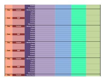 Daily Lesson Planner- The Burgoyne Model