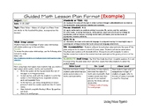 Daily Lesson Planning Template (Horizontal) Example
