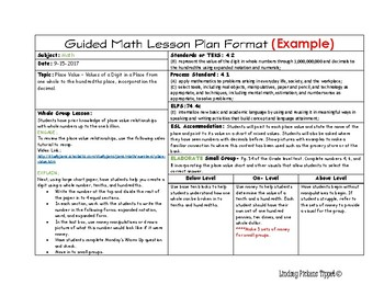 daily lesson planning template horizontal example by tippet s toolbox