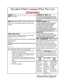 Daily Lesson Planning Template Vertical Example By Math STAAR - Lesson plan template example