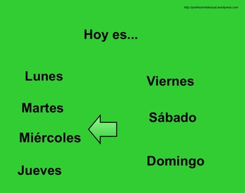 Daily Lesson in Spanish (Weather, Time, Days, ABCs, Seasons)