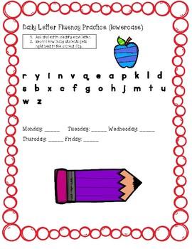 Daily Letter Fluency