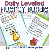 Daily Fluency Passages & Interactive Notebook Strips: Complete Leveled Bundle