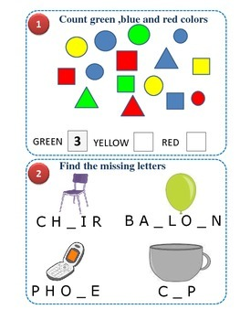 Daily Life - Puzzle series for Kintergarten kids