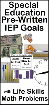 Life Skills Math Distance Learning Daily Special Education IEP Goals