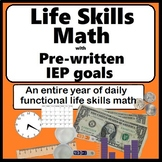 Life Skills Math Distance Learning Daily Special Education