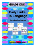 Daily Links To Language- Grade 1