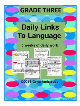 Daily Links To Language- Grade 3