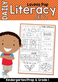 Daily Literacy 2 Morning Work | Sight Words, Beginning Sounds, Rhyming