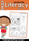 Daily Literacy 3 Morning Work | Sight Words, Blends, Long Vowels