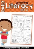 Daily Literacy Morning Work Set 4 | Sight Words, Long Vowels, Punctuation, Nouns