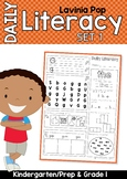 Daily Literacy Morning Work | Sight Words, Beginning Sounds, Reading Distance