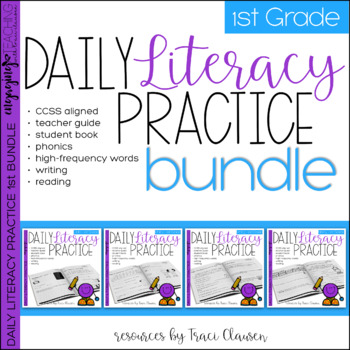 Reading and Writing - Daily Literacy Practice - First Grade BUNDLE