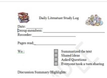 Daily Literature Study Log