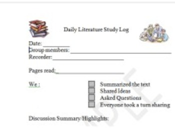 Daily Literature Study Log