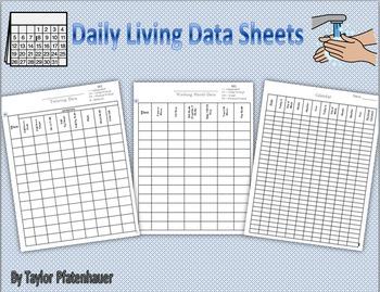 Daily Living Data Sheets