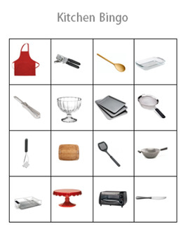 Daily Living/Life Skills: Kitchen BINGO