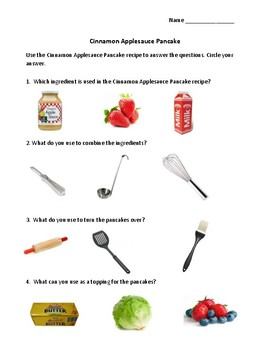 Daily Living/Life Skills: Reading a Recipe (Pancakes)