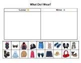Daily Living/Life Skills: Sorting Clothing by Season