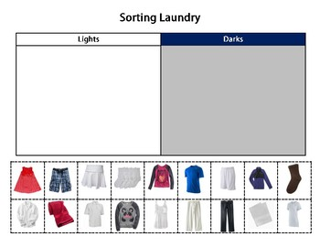 daily living life skills sorting laundry by the classroom behavior consultant. Black Bedroom Furniture Sets. Home Design Ideas