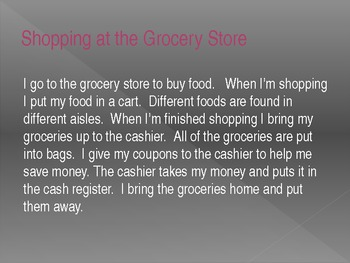 Daily Living Skills - A Trip to the Grocery Store