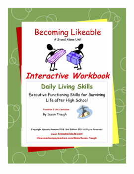 Becoming Likable Workbook-Daily Living Skills