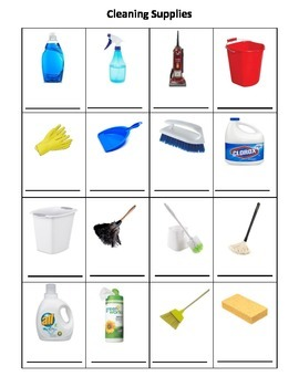 Daily Living Skills: Cleaning Supplies