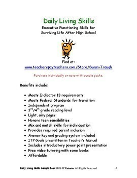 Daily Living Skills-Complete Bundle with Teacher's Manual