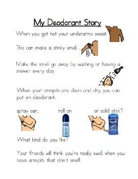 Daily Living Skills: Deodorant Social Story