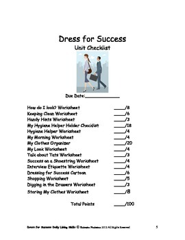 Dls Dress For Success Workbook Daily Living Skills By