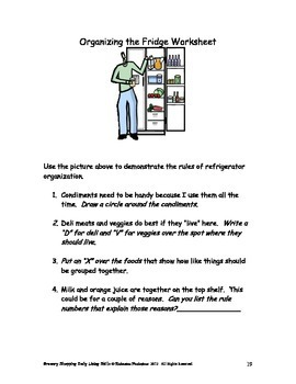 DLS Grocery Shopping Workbook-Daily Living Skills