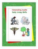 Daily Living Skills-Homemaking Workbooks Bundle Pack