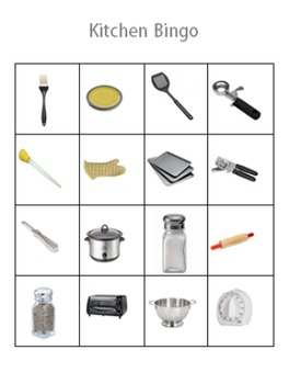 Daily Living Skills: Kitchen Bingo