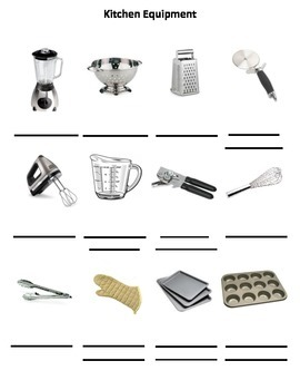Daily Living Skills: Kitchen Equipment