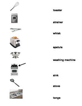 Daily Living Skills: Kitchen Equipment Matching