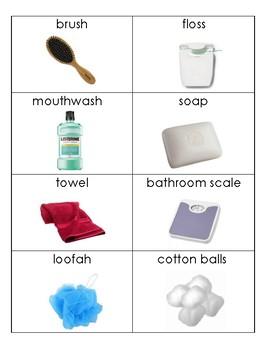 Daily Living Skills/Life Skills: Bathroom Flashcards