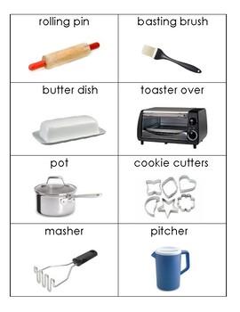Daily Living Skills/Life Skills: Kitchen Flashcards