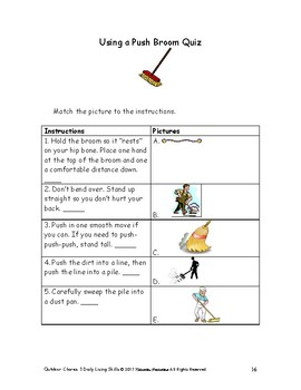Daily Living Skills--Outdoor Chores