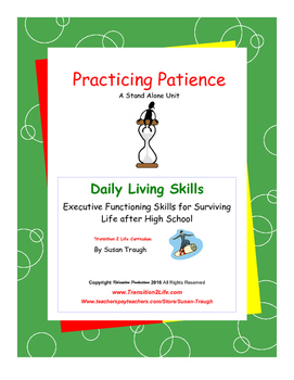 Practicing Patience Workbook-Daily Living Skills