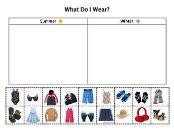 Daily Living Skills: Sorting Clothing by Season