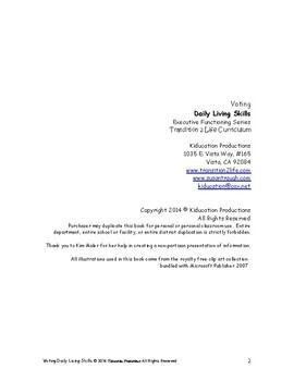 Voting Workbook-Daily Living Skills