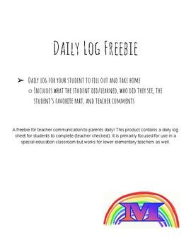 Daily Log Freebie