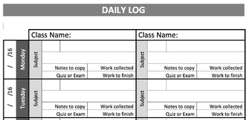 Daily Log Template (Version 2)