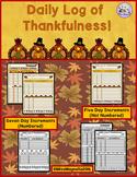 Daily Log of Thankfulness!