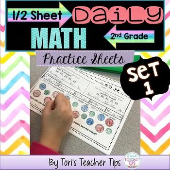 Daily MATH 1/2 sheets SET 1