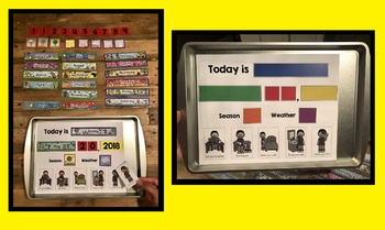 Daily Magnetic Calendar Boy/Girl Morning Routine Chart, Date, Season, Weather