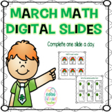 Daily March Math Digital Slides
