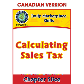 Daily Marketplace Skills: Calculating Sales Tax Gr. 6-12 CDN