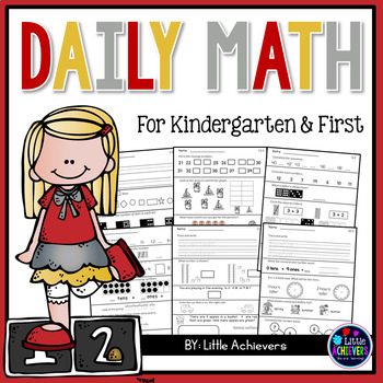 First Grade Math Worksheets Daily Math Morning Work By Little Achievers