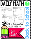 Daily Math 1 (Back to School) Fifth Grade